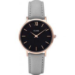 Biżuteria i zegarki damskie: Zegarek damski Rose Gold Black Grey Cluse Minuit CL30018