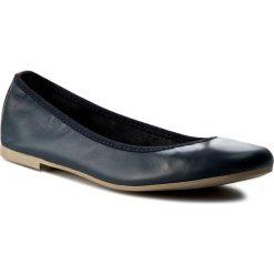 Baleriny TAMARIS - 1-22128-28 Navy 805. Niebieskie baleriny damskie marki Tamaris, ze skóry ekologicznej. W wyprzedaży za 149,00 zł.