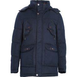 Granatowa Kurtka Keep You Warm. Czarne kurtki męskie zimowe marki Born2be, m, z nadrukiem, z dresówki, z kapturem. Za 199,99 zł.