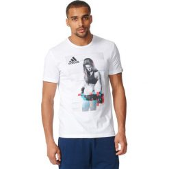 Koszulki sportowe męskie: Adidas Koszulka męska T-Shirt Female Athlete biała r. XL (AY7201)