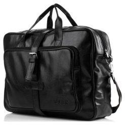 LUISE Czarna torba męska na ramię Solier vintage. Czarne torby na ramię męskie Solier, w paski, z materiału. Za 143,20 zł.