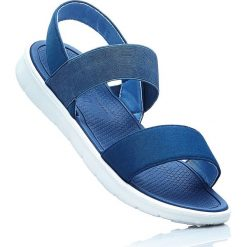 Sandały bonprix ciemnoniebieski. Niebieskie sandały trekkingowe damskie marki bonprix, w paski. Za 49,99 zł.
