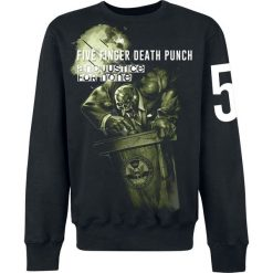 Bluzy męskie: Five Finger Death Punch And justice for none Bluza czarny