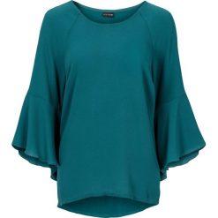 Bluzki asymetryczne: Bluzka z rozkloszowanymi rękawami bonprix szmaragdowy