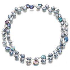Naszyjniki damskie: Naszyjnik z perłami – (D)110 cm