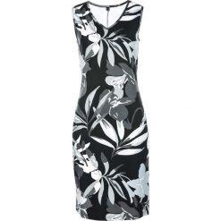 Sukienki: Sukienka shirtowa z nadrukiem bonprix czarno-biały z nadrukiem