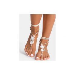 Bransoletki damskie: Biała bransoletka na stopę Dreamcatcher