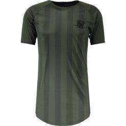T-shirty męskie z nadrukiem: SIKSILK SHADOW STRIPE CURVED HEM TEE Tshirt z nadrukiem khaki