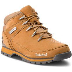Trapery TIMBERLAND - Euro Sprint Hiker TB0A1TZV Wheat. Żółte botki męskie Timberland, z gumy. W wyprzedaży za 469,00 zł.
