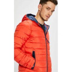 Pepe Jeans - Kurtka Aviary. Czerwone kurtki męskie bomber Pepe Jeans, l, z jeansu, z kapturem. W wyprzedaży za 399,90 zł.