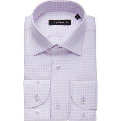 Koszula Fioletowa w Kratę Alvin. Fioletowe koszule męskie na spinki marki LANCERTO, m, w kratkę, z bawełny. W wyprzedaży za 149,90 zł.