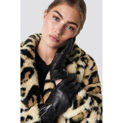 Rut&Circle Skórzane rękawiczki z suwakiem - Black. Czarne rękawiczki damskie Rut&Circle, ze skóry. Za 121,95 zł.