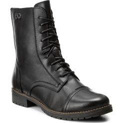 Botki LASOCKI - FIGURA-02 Czarny. Czarne botki damskie na obcasie marki Lasocki, ze skóry. Za 249,99 zł.