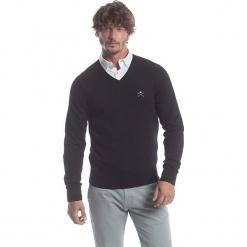 Sweter w kolorze czarnym. Niebieskie swetry klasyczne męskie marki GALVANNI, l, z okrągłym kołnierzem. W wyprzedaży za 173,95 zł.