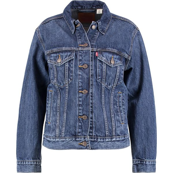 87562228270a1 Levi's® EX BOYFRIEND TRUCKER Kurtka jeansowa stoop culture - Niebieskie  kurtki damskie Levi's®, s, z bawełny. W wyprzedaży za 359,10 zł.
