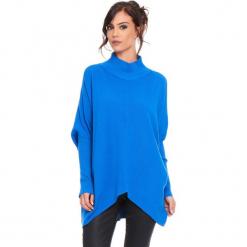 """Golf """"Grace"""" w kolorze niebieskim. Niebieskie golfy damskie marki Cosy Winter, s, ze splotem. W wyprzedaży za 181,95 zł."""