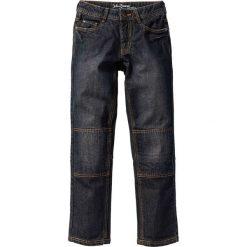 """Trwałe dżinsy Regular Fit z wzmocnionymi kolanami bonprix czarny """"stone"""". Czarne jeansy męskie regular marki bonprix, w paski, z dresówki. Za 49,99 zł."""