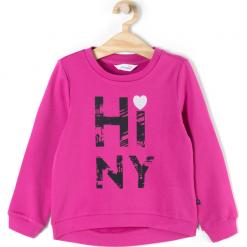 Bluza. Czerwone bluzy dziewczęce rozpinane BASIC GIRL, z aplikacjami, z bawełny, z długim rękawem, długie. Za 39,90 zł.