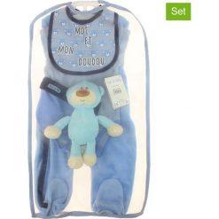 Pajacyki niemowlęce: 5-częściowy zestaw w kolorze niebieskim