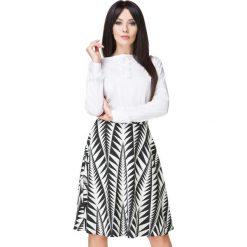 Spódniczki: Biało- Czarna Spódnica Klasyczna Midi z Koła