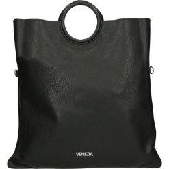 Torba - 175-004G-O NE. Szare torebki klasyczne damskie marki Venezia, ze skóry. Za 339,00 zł.