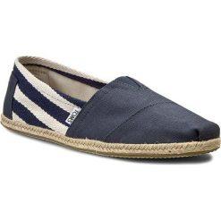 Espadryle TOMS - Classic 10005418 Navy Stripe. Niebieskie espadryle męskie marki Toms, z materiału. W wyprzedaży za 179,00 zł.