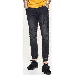 Odzież męska: Jeansy jogger slouch - Czarny