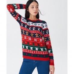 Sweter ze świątecznym motywem - Wielobarwn. Szare swetry klasyczne damskie House, l. Za 89,99 zł.