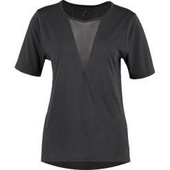Nike Performance Tshirt z nadrukiem anthracite/reflective silver. Czarne topy sportowe damskie marki Nike Performance, xs, z nadrukiem, z materiału. W wyprzedaży za 125,30 zł.