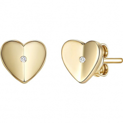 Pozłacane kolczyki-wkrętki z diamentami. Żółte kolczyki damskie Stylowa biżuteria, z diamentem, pozłacane. W wyprzedaży za 130,95 zł.