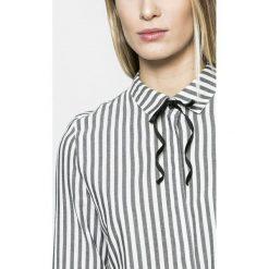 Review - Koszula. Szare koszule wiązane damskie marki Review, l, z tkaniny, z okrągłym kołnierzem. W wyprzedaży za 99,90 zł.