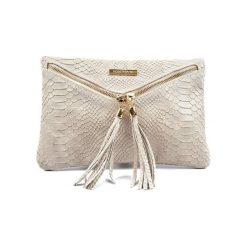 Torebki klasyczne damskie: Skórzana torebka w kolorze beżowym – (S)29 x (W)19 cm