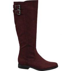 Kozaki damskie Graceland bordowe. Czerwone buty zimowe damskie marki Graceland, z materiału, na obcasie. Za 159,90 zł.