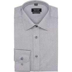 Koszula versone 2687 długi rękaw custom fit szary. Szare koszule męskie marki Recman, na lato, l, w kratkę, button down, z krótkim rękawem. Za 129,00 zł.