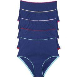 Figi z wysoką talią (5 par) bonprix niebiesko-kolorowy. Niebieskie figi bonprix, w kolorowe wzory. Za 49,95 zł.