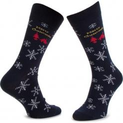 Skarpety Wysokie Męskie DOTS SOCKS - DTS-SX-107-X Granatowy. Czerwone skarpetki męskie marki Happy Socks, z bawełny. Za 19,90 zł.