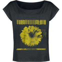Twenty One Pilots Daisy Koszulka damska popielaty/czarny. Czarne bluzki z odkrytymi ramionami Twenty One Pilots, l, z nadrukiem, z dekoltem w łódkę. Za 94,90 zł.