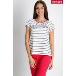 Piżama w marynarskie paski QUIOSQUE. Różowe piżamy damskie QUIOSQUE, m, z nadrukiem, z bawełny, z krótkim rękawem. W wyprzedaży za 59,99 zł.