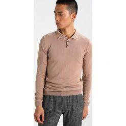 Swetry męskie: Topman MUSCLE FIT Sweter light brown