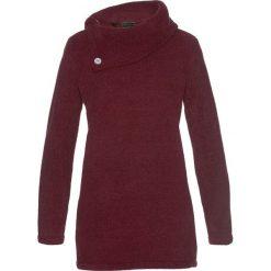 Sweter bonprix czerwony klonowy. Czerwone swetry klasyczne damskie marki bonprix, z materiału, ze stójką. Za 74,99 zł.