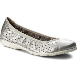 Baleriny CAPRICE - 9-22151-20 Silver Metal 920. Szare baleriny damskie Caprice, ze skóry ekologicznej. W wyprzedaży za 159,00 zł.