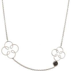 Naszyjniki damskie: Srebrny naszyjnik z cyrkonią – (D)42 cm