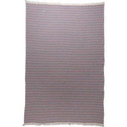 Chusta hammam w kolorze niebiesko-czerwonym - 200 x 140 cm. Czarne chusty damskie marki Hamamtowels, z bawełny. W wyprzedaży za 87,95 zł.