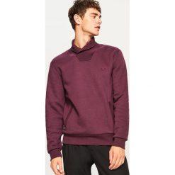 Bluza kangurka z kołnierzem - Fioletowy. Fioletowe bluzy męskie rozpinane marki Reserved, l. Za 69,99 zł.