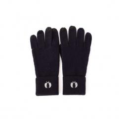 Rękawiczki Fred Perry  C2110. Niebieskie rękawiczki męskie Fred Perry. Za 343,16 zł.