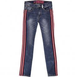 Dżinsy - Slim fit - w kolorze niebieskim. Niebieskie jeansy dziewczęce marki Retour Denim de Luxe, ze skóry. W wyprzedaży za 115,95 zł.