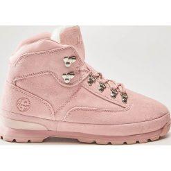 Skórzane buty trekkingowe - Różowy. Czerwone buty trekkingowe damskie marki House. Za 189,99 zł.