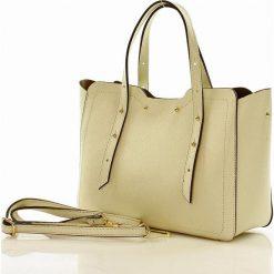 Kuferki damskie: Torebka włoska kuferek skóra CAROLINE - beż