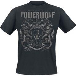 Powerwolf Crest - Metal Is Religion T-Shirt czarny. Czarne t-shirty męskie Powerwolf, l, z napisami, z dekoltem na plecach. Za 89,90 zł.