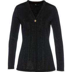 """Płaszcz shirtowy """"slinky"""" bonprix czarny. Czarne płaszcze damskie bonprix. Za 89,99 zł."""